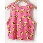 cheap Chic Women's Pizza Print Tank Top