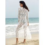Lace Cover-Up Long Sleeve Maxi Long Beach Kimono Robe for sale