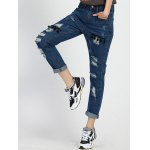 High Rise Boyfriend Ripped Jeans for sale