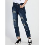 High Rise Ripped Boyfriend Jeans deal