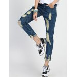 cheap High Rise Ripped Cropped Jeans