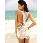 See-Through Lace Short Swimsuits Cover Ups for sale