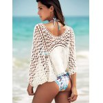 Dolman Sleeve Openwork Cover Ups Bathing Suit for sale