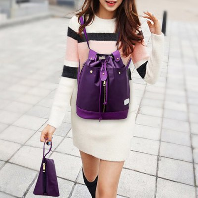 Leisure String and Nylon Design Backpack For WomenWomens Bags<br>Leisure String and Nylon Design Backpack For Women<br><br>Handbag Type: Backpack<br>Style: Casual<br>Gender: For Women<br>Pattern Type: Others<br>Handbag Size: Medium(30-50cm)<br>Closure Type: String<br>Interior: Cell Phone Pocket<br>Occasion: Versatile<br>Main Material: Nylon<br>Hardness: Soft<br>Weight: 1.200kg<br>Size(CM)(L*W*H): 27*16*34<br>Strap Length: 60-100CM (Adjustable)<br>Package Contents: 1 x Backpack,1 x Crossbody Bag,1 x Clutch Bag