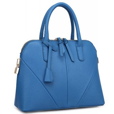 Elegant Stitching and Solid Color Design Tote Bag For Women