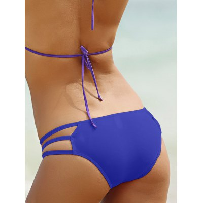 Stylish Solid Color Hollow Out Design Briefs For Women