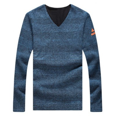 Casual Solid Color V-Neck Sweater For Men