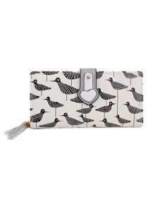 Casual Print and Color Block Design Clutch Wallet For Women