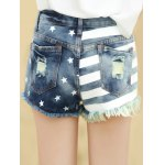 American Flag Ripped Denim Shorts deal