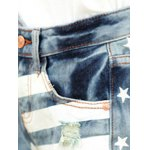 Stylish Striped Star Print Women's Ripped Denim Shorts for sale