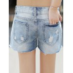 Cartoon Denim Ripped Shorts for sale