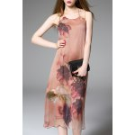 Fitting Floral Print Silk Dress