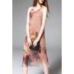 Fitting Floral Print Silk Dress for sale