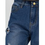 Chic Women's Plus Size Ripped High Waist Jeans for sale