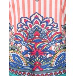 best Chic Women's Scoop Neck Lace Ethnic Print Tank Top