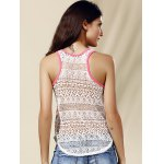 Chic Women's Scoop Neck Lace Ethnic Print Tank Top for sale