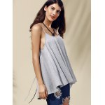Chic Women's Backless Pure Color Spaghetti Strap Tank Top deal