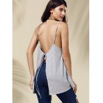 Chic Women's Backless Pure Color Spaghetti Strap Tank Top for sale