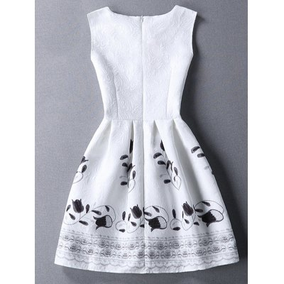 Sweet Round Collar Sleeveless Floral Print  Womens DressWomens Clothing<br>Sweet Round Collar Sleeveless Floral Print  Womens Dress<br><br>Style: Cute<br>Material: Cotton Blend,Polyester<br>Silhouette: A-Line<br>Dresses Length: Mini<br>Neckline: Round Collar<br>Sleeve Length: Sleeveless<br>Pattern Type: Floral<br>With Belt: No<br>Season: Spring,Summer<br>Weight: 0.228kg<br>Package Contents: 1 x Dress