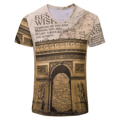 Casual Letters Printed Short Sleeves T-Shirt For Men