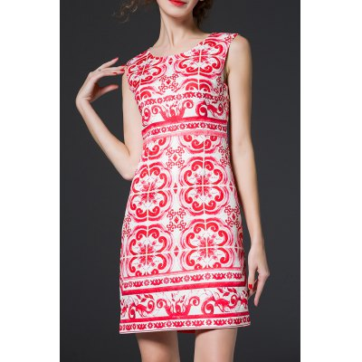 Floral Jacquard Mini Sundress