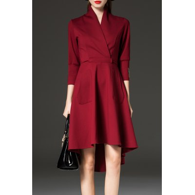 High Low Coat Work Dress