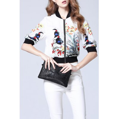 Half Sleeve Printed Jacket