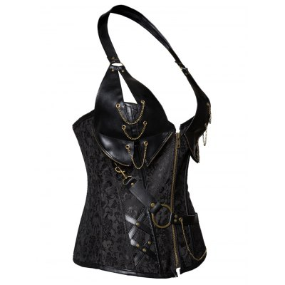 Alluring Floral Patchwork Halter Corset For WomenCorsets &amp; Shapewear<br>Alluring Floral Patchwork Halter Corset For Women<br><br>Material: Polyester<br>Pattern Type: Patchwork<br>Embellishment: Chains,Zippers<br>Weight: 0.470kg<br>Package Contents: 1 x Corset
