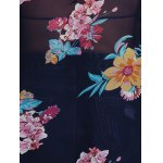 Stylish Collarless Bat-Wing Sleeve Floral Print Chiffon Women's Cover Up photo