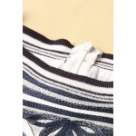 Embroidered Striped Faux Twinset Dress photo