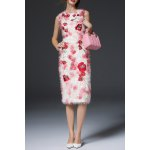 Fuzzy Floral Sheath Dress for sale