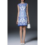 Blue and White Porcelain Print Dress deal