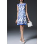 Blue and White Porcelain Print Dress for sale