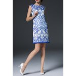 Blue and White Porcelain Print Dress photo