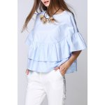 Solid Color Ruffled Top for sale