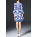 cheap Geometric Print Sheath Dress
