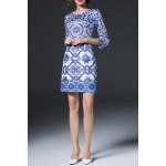Geometric Print Sheath Dress photo