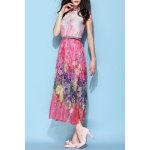Halterneck Belted Silk Bohemian Dress for sale