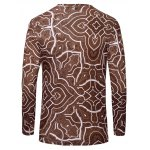 cheap Casual Geometric Figure Printed Long Sleeves T-Shirt For Men