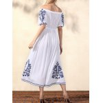 Bohemian Off The Shoulder Half Sleeve Embroidery Dress For Women for sale