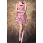 Scoop Neck Sequined Embroidered Dress deal