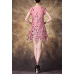 cheap Scoop Neck Sequined Embroidered Dress