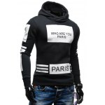 cheap Fashionable Hooded Letters Printing Striped Color Matching Long Sleeves Hoodie For Men