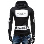 Fashionable Hooded Letters Printing Striped Color Matching Long Sleeves Hoodie For Men