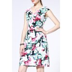 Straight Fitting Floral Print Dress for sale