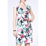 Straight Fitting Floral Print Dress deal