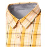 Turn-Down Collar Checked Design Short Sleeve Shirt For Men deal