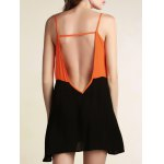 Stylish Cami Sleeveless Color Block Backless Women's Dress