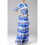 cheap Printed Tiered Maxi Dress