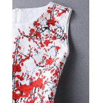 Ladylike Round Neck Sleeveless Plum Blossom Print Women's Dress deal